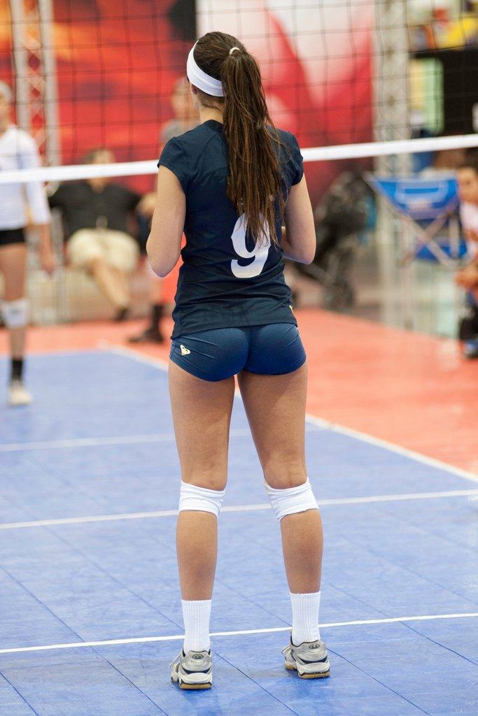 Volleyball Girl In Shorts - Girls In Short Shorts-2861
